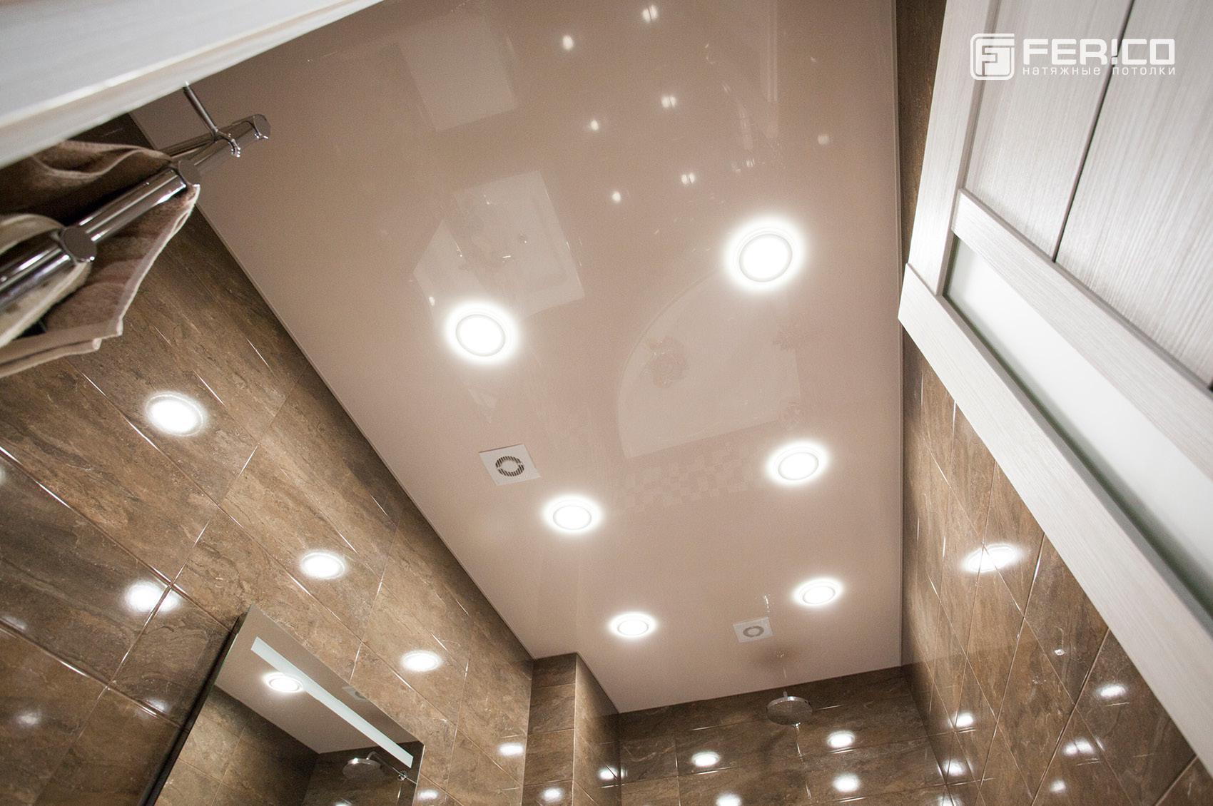 Натяжной потолок Ферико в ванной